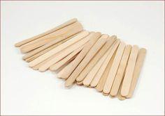 50 Wooden Craft Stick Paddle Pop Popsicle Coffee Stirrers Ice Cream Sticks