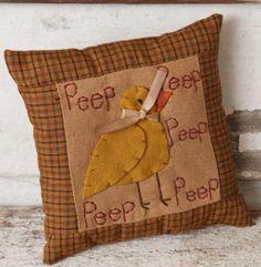 Stitcheries | Country and primitive accent decor: Stitchery Pillow - Peep, Peep ...