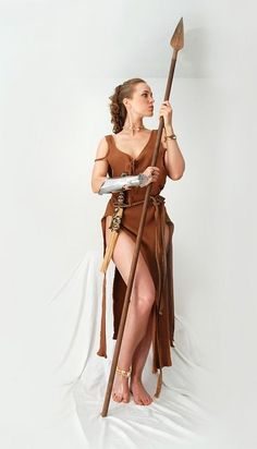 Woman, Costume, Spear, Warrior, Iron, Weapon, Dangerous