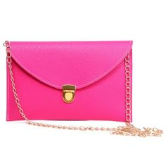 New Trending Clutch Bags: HDE Womens Envelope Clutch Purse Handbag (Hot Pink). HDE Women's Envelope Clutch Purse Handbag (Hot Pink)   Special Offer: $4.95      466 Reviews Your handbag is not just a place to store your stuff. Your handbag is a fashion accessory that speaks for you, so make sure your message comes through loud and clear. With this must-have...