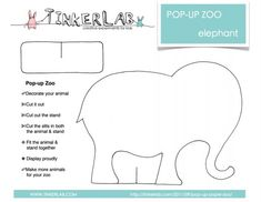 template for pop up zoo animals - must do soon!