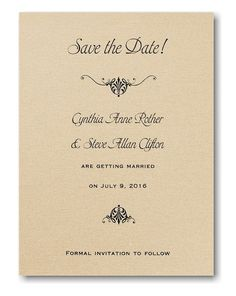 Wrapped in Gold Shimmer Save the Date Card