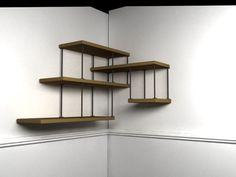 Etagères tiges métalliques. Diy Bar, Plant Shelves, Decoration, Floating Shelves, Wood Projects, Small Spaces, Home Furniture, Hardware, Interior