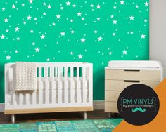 Star Confetti Vinyl Wall Decal Sheet Set of 128 SHA028 by PMVinyls