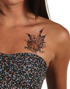 sweet fairy | chest tattoos for women | egodesigns