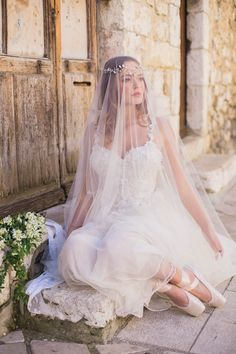 ballerina wedding dress in ivory silk tulle with beaded flower embellishment for a styled bridal shoot in the South of France Daytime Wedding, Red Carpet Gowns, Ivory Silk, Bridal Shoot, Prom Dresses, Wedding Dresses, Vintage Inspired, Bodice, Wedding Planning