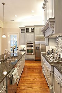 Thousands of ideas about open galley kitchen on pinterest for Two way galley kitchen designs