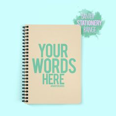 Our spiral bound paperback notebooks are printed in super high quality. Customised Gifts, Your Word, Laptop Case, Office Gifts, Phone Covers, Beach Towel, Gifts For Him, Stationary, Range