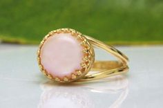 pink pearl promise ring