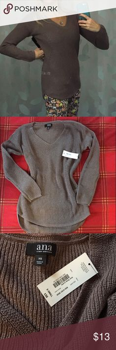 Women's long sleeve v- neck sweater ANA Women's long sleeve v- neck sweater ANA, brand new with tags. Very fashionable can wear with jeans or leggings.  🎉 a.n.a Sweaters V-Necks