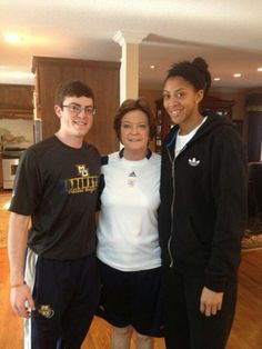 Candace Parker with Pat Summit and her son, Tyler Summit