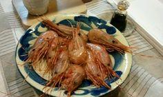 raw shrimp.