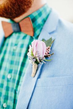 Peggy and Finn's groom accessories have you covered with wooden bowties and cufflinks. Gold Wedding Theme, Polka Dot Wedding, Groom Accessories, Wedding Inspiration, Style Inspiration, Blush And Gold, Groom Style, Dusty Blue, Wedding Styles