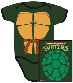 Click for Full Size Image of Teenage Mutant Ninja Turtles, Baby Clothes, Turtle Shell