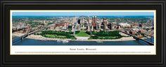 Saint Louis, Missouri City Skyline Panoramic Pictures & Posters