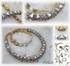 """Schéma ...Bracelet et collier """" Aya"""" de Les perles de Puca sur DaWanda.com"""