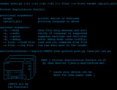 The Printer Exploitation Toolkit (PRET) is a Python tool developed at the University of Bochum to automate most attacks presented in this wiki. It connects to a printing device via network or USB and allows penetration testers to exploit a large variety of bugs and features in PostScript, PJL and PCL, including temporary and physical denial of service attacks, resetting the device to factory defaults, print job manipulation and retention, access to a printer's memory and file system as well…