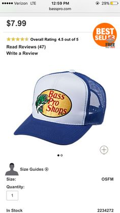 191da9b6 Every camper has to have a Bass Pro Shops hat... Just sayin ...