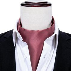 "New Men/'s Polyester Woven 2.5/"" Skinny Slim Necktie Polka Dots Black Hot Pink"