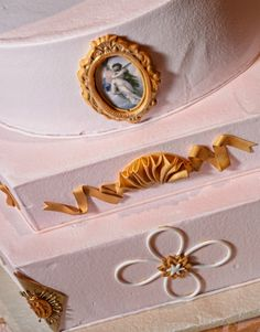 vintage wedding cake decoration at Kathleen & Glenn's Aristide Event Center Wedding »   Dallas-Fort Worth Wedding Photographer