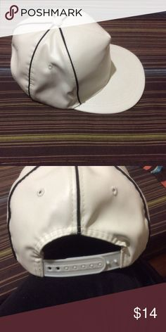 9c062638518 NEW White SnapBack NEW White color SnapBack cap Adjustable back strap  Accessories Hats