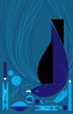 Bowerbird - Eleanor Grosch http://www.nomad-chic.com/runaway-blues-comme-des-garcons.html