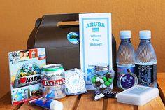Welcome bag ideas for an Aruba wedding #WeddingGuests #arubaweddings #guestbags Destination Wedding Welcome Bag, Wedding Welcome Bags, Wedding Favors, Destination Weddings, Aruba Weddings, Island Weddings, My Perfect Wedding, Wedding Honeymoons, White Wedding Cakes