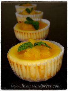 mango cheese-minicakes