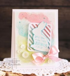 Love You More Than Jellybeans #card by Laurie Schmidlin #WeeklyScrapper #ScrapbookExpo