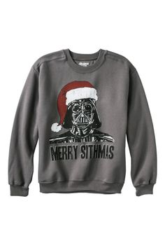 Star Wars Merry Sithmas Fleece Sweatshirt - Liven up the party with the power of the force.