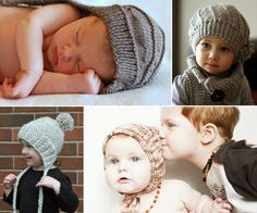 SHE MAKES HATS: Flat Knit Hats For Babies And Kids