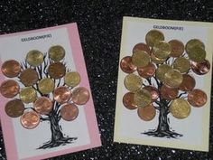 This is a cute idea for making and sending to my kids.they would love to get this in the mail! Money Creation, Indoor Crafts, Money Trees, Money Cards, Paper Crafts, Diy Crafts, Arts And Crafts Projects, Christmas In July, Xmas Ornaments