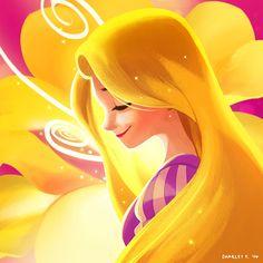 Golden Flower by charlestanart