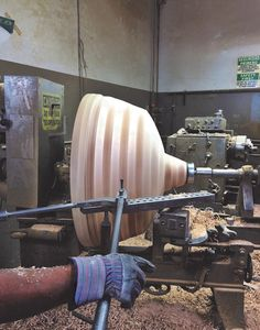 "Here's a quick look behind the scenes, of ANP Lighting's first Oversized Shade mold! This particular mold was used for our first Oversized Shade project. Today, ANP Lighting supplies a full collection of Oversized Shades, featuring 13 various shade styles, up to 48"" in diameter!   Click below to find out more about the Oversized Shade collection!"
