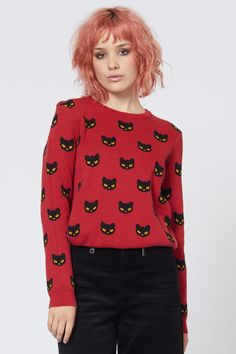 Dangerfield: Punk Katz Knit Best Sellers, Knitwear, Online Price, Punk, Clothes For Women, Knitting, Outfits, Black, Tops
