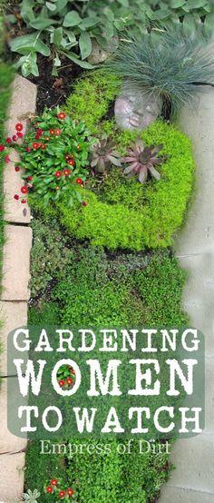 Moss garden woman.