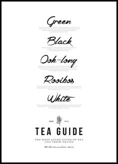 Tea Guide Poster - Posterstore.co.uk