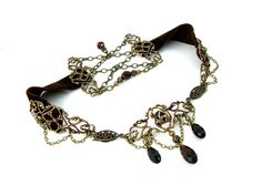 Hey, I found this really awesome Etsy listing at https://www.etsy.com/listing/166964709/velvet-choker-brown-and-bronze-steampunk