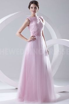 Tulle Strapless Romantic Evening Dresses - Order Link: http://www.theweddingdresses.com/tulle-strapless-romantic-evening-dresses-twdn4520.html - Embellishments: Applique; Length: Floor Length; Fabric: Tulle; Waist: Natural - Price: 162.3025USD
