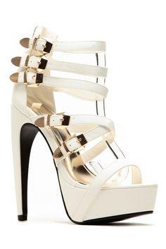 e7afd9c9dfa2 Liliana White Abstract Platform Heel   Cicihot Heel Shoes online store  sales Stiletto Heel Shoes