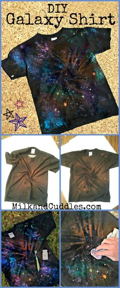 Do you have a science or astronomy fan in your house? And I love supporting the kiddo and her quest to learn more about the stars. Suddenly nothing is cooler than a movie or TV show set in space! Star Wars anyone? Our families l Space Party, Space Theme, Vbs Crafts, Space Crafts, Tye Dye, Diy Galaxie, How To Tie Dye, How To Make, Star Wars Crafts