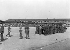 German internees in Neuengamme in May 1945.