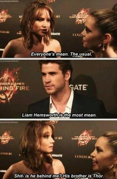 Jennifer Lawrence - I just love her. She is hilarious and totally unafraid to be herself But Liam Hemsworth is the best guy in The Hunger Games Series J Law, Liam Hemsworth, Jenifer Lawrance, Jennifer Lawrence Funny, Haha, Tribute Von Panem, The Hunger Games, Dump A Day, Katniss Everdeen