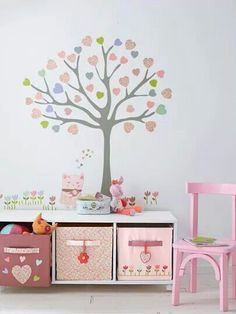 TinyEnoughBlog: LOVE: Trees in the nursery/toddler room. Can't get enough of this idea!