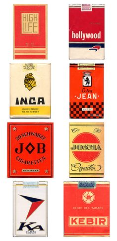 vintage cigarette package design.