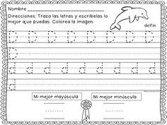 SONIDOS INICIALES 3 - Trazando todas las letras del abecedario y los digrafos ch, rr, y ll. Un animal o otra ilustración infantil se usa en cada de las 30 paginas.
