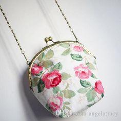 New Girl Rose Mori Chains Mouth Gold Cosmetic Mini Metal Frame Kisslock Bag Mobile Phone Card Key Women's Handbag Messenger Cross-body Bag