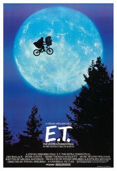 """E.T. The Extra Terrestrial - Home Theater Decor - 13""""x19"""" or 24""""x36""""- Sci Fi Fantasy Movie Poster Pr"""