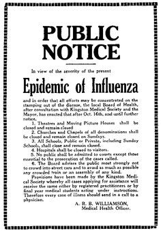 In 1918, the Great War in Europe was coming to an end and peace was finally visible, after taking an estimated 16 million lives. The influenza epidemic that swept the world in 1918 killed an estimated 50 million people. One fifth of the world's population was brutally attacked by this fatal virus. That is something that people today can't even wrap their heads around.