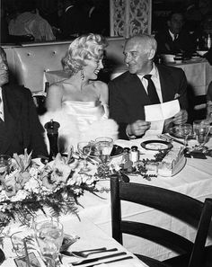Marilyn with Walter Winchell at a birthday party for Winchell at Ciro's, May 13, 1953.